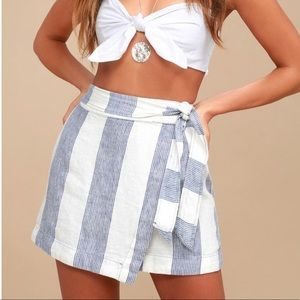 Free People blue & white wrap skirts size 2